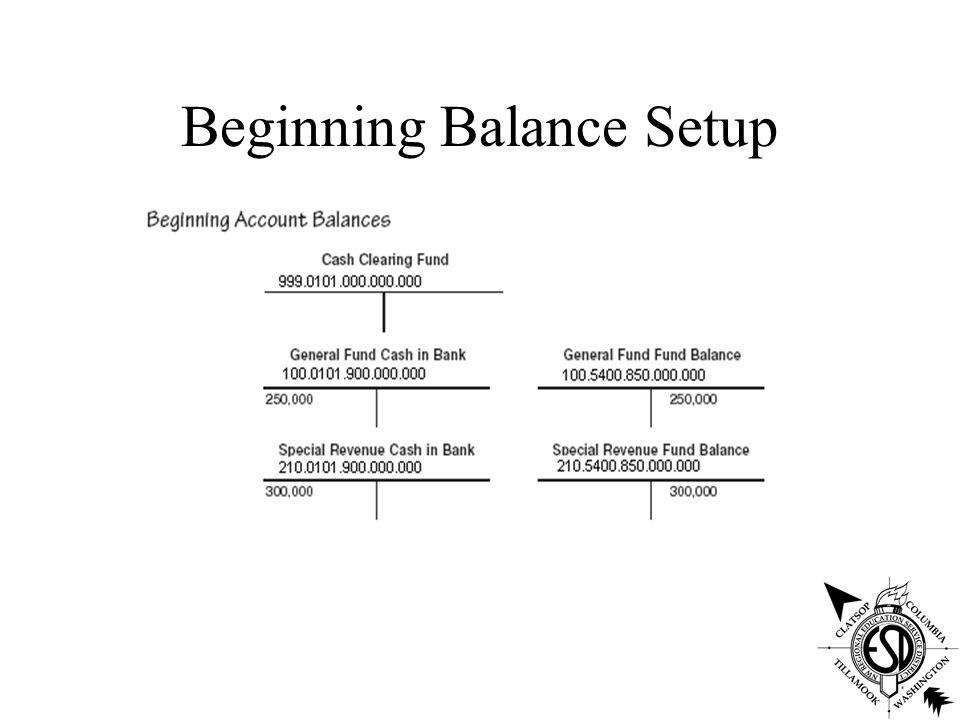 Beginning Balance Setup