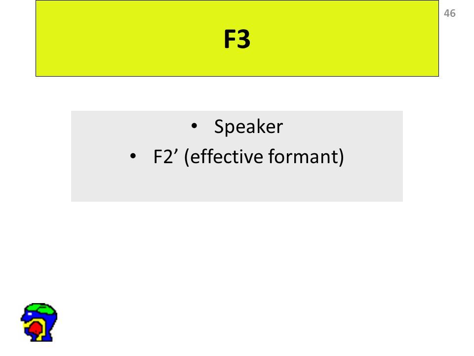46 F3 Speaker F2' (effective formant)