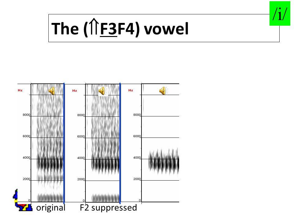 65 originalF2 suppressed The (  F3F4) vowel /i/