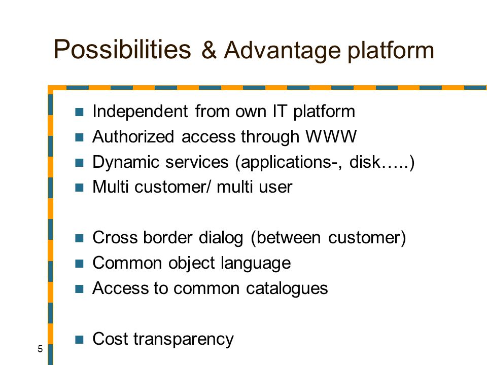 16 Possibilities & Advantage product Regular data (catalogues, user, archives, etc..