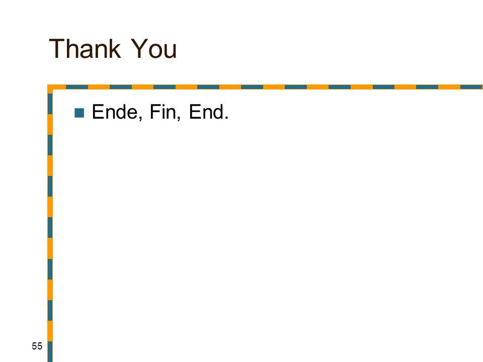 55 Thank You Ende, Fin, End.
