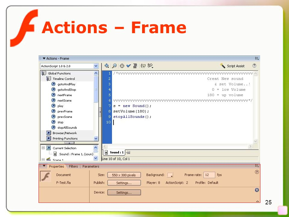 25 Actions – Frame