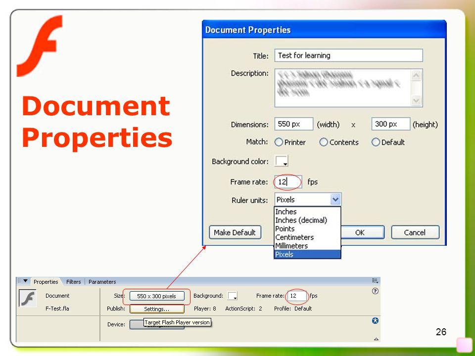 26 Document Properties