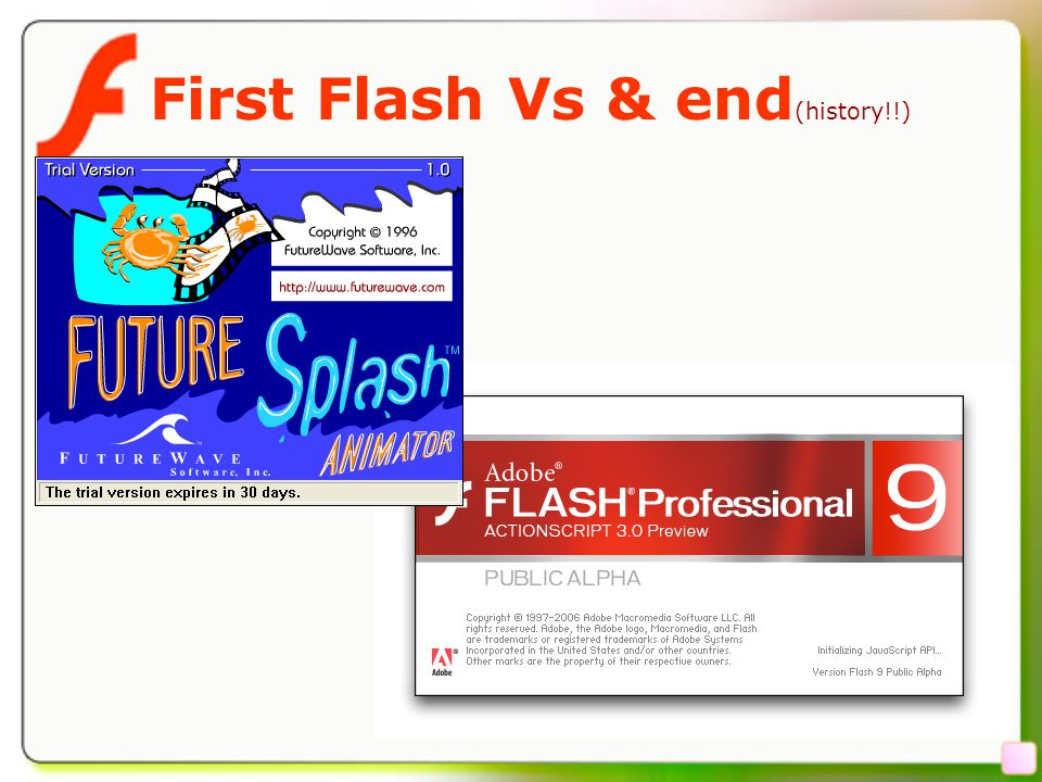 4 First Flash Vs & end (history!!)