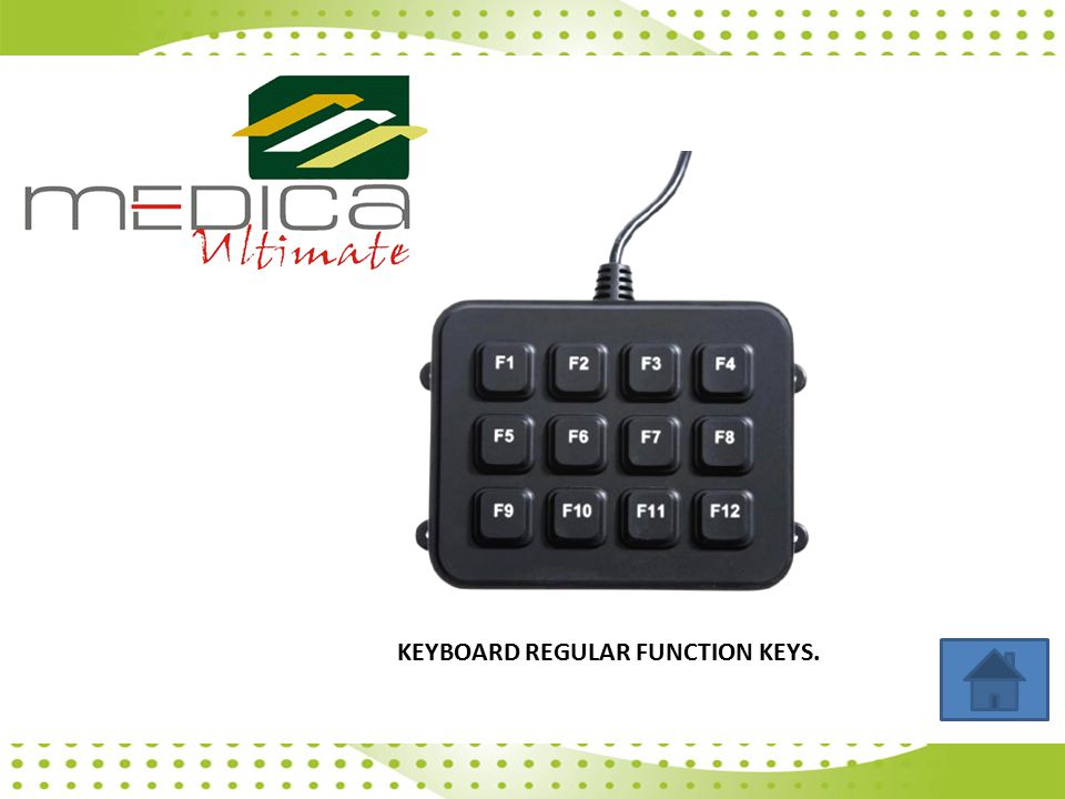 KEYBOARD REGULAR FUNCTION KEYS.