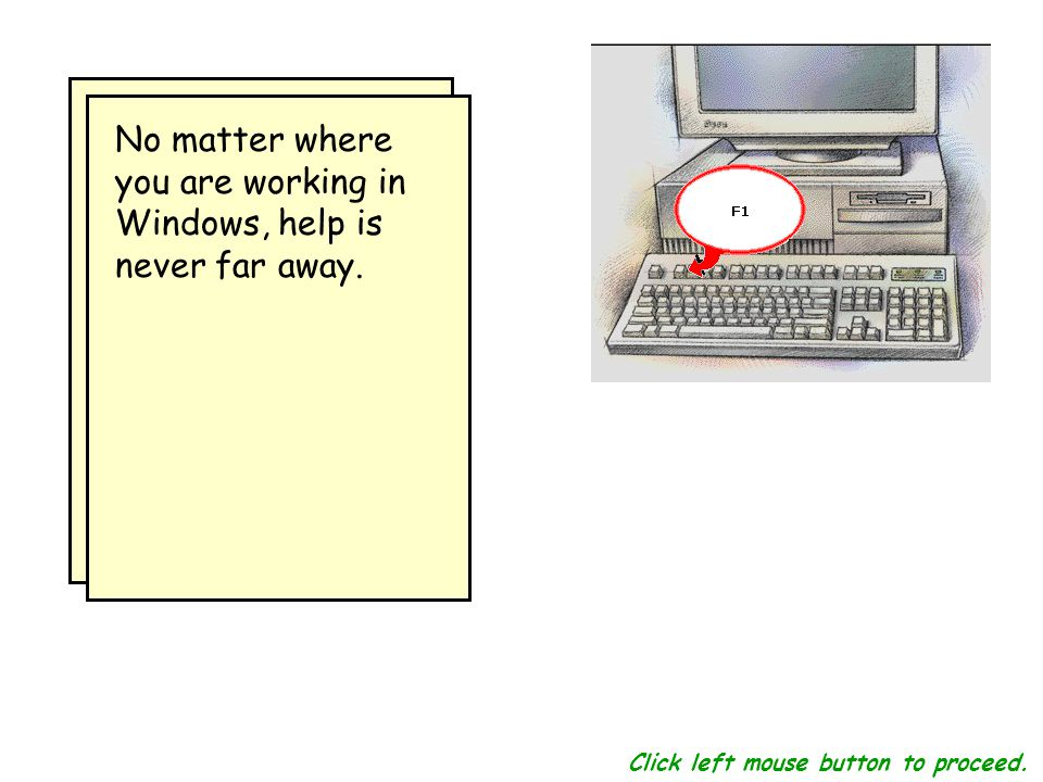 In most software, the F1 function key opens the Help feature.