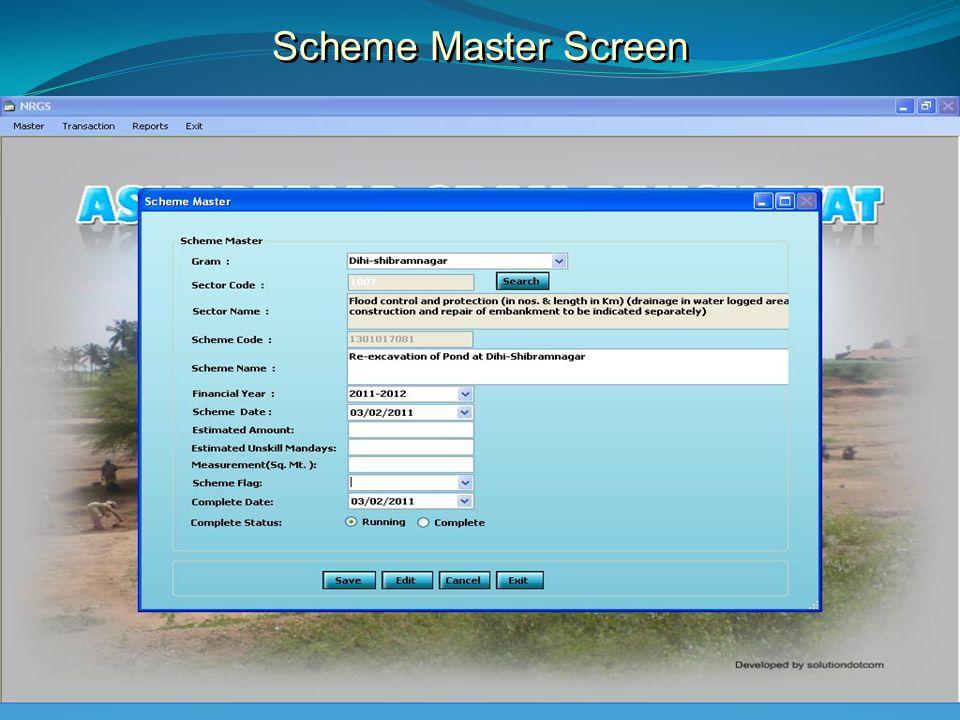 Scheme Master Screen
