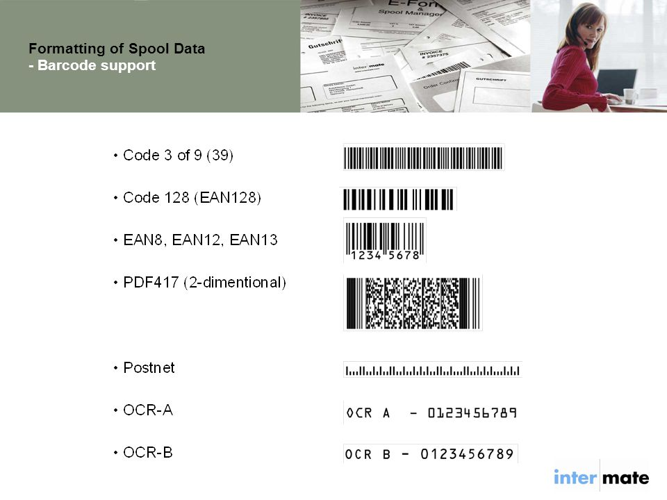 Formatting of Spool Data - Barcode support