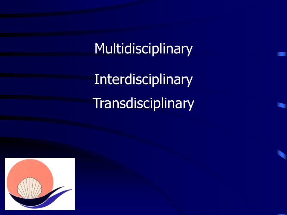 Multidisciplinary Interdisciplinary Transdisciplinary