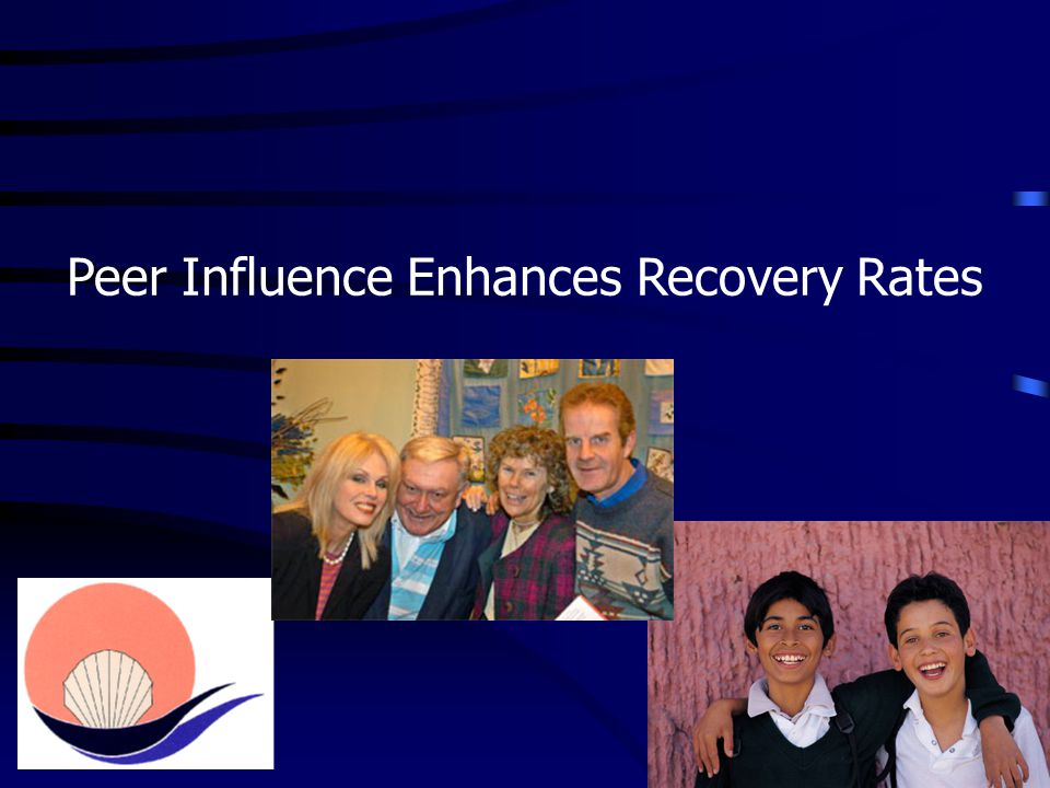 Peer Influence Enhances Recovery Rates