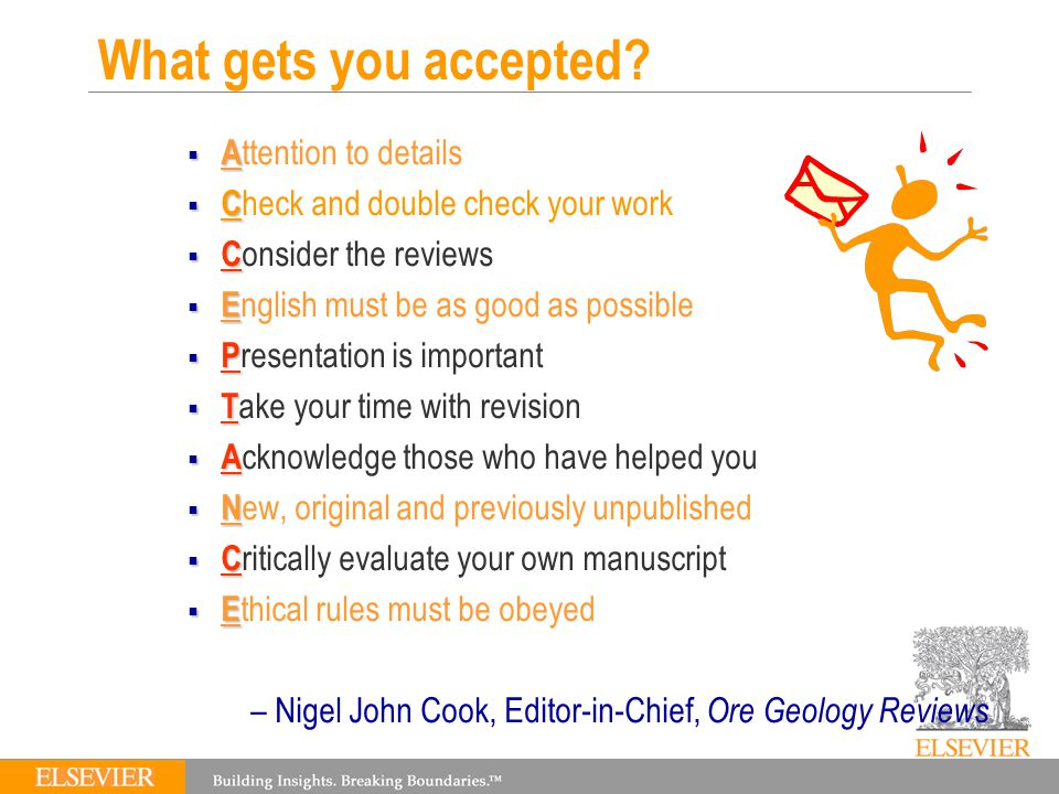 What gets you accepted.