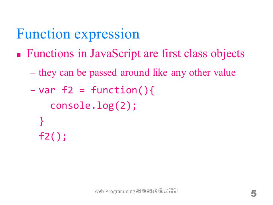 Today's assignment 今天的任務 Web Programming 網際網路程式設計 46