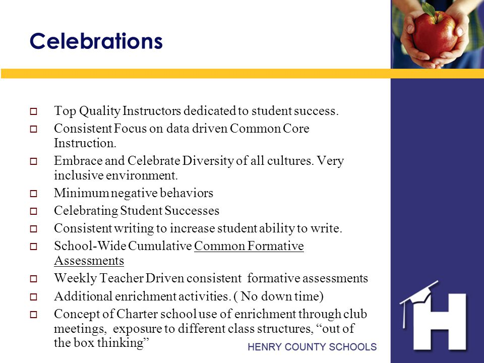 Celebrations  Top Quality Instructors dedicated to student success.