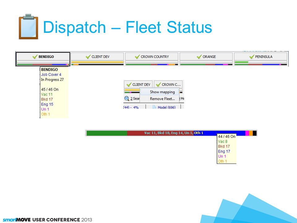 Dispatch – Fleet Status