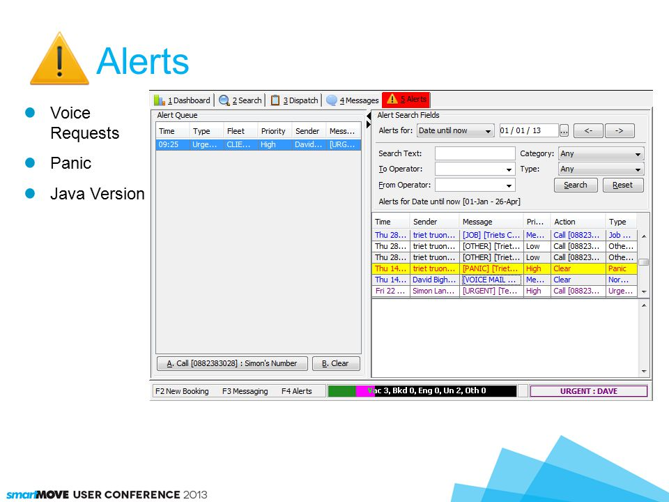 Alerts Voice Requests Panic Java Version