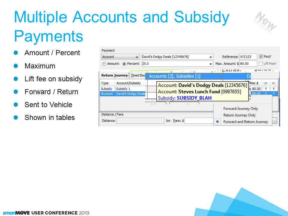 Amount / Percent Maximum Lift fee on subsidy Forward / Return Sent to Vehicle Shown in tables Multiple Accounts and Subsidy Payments