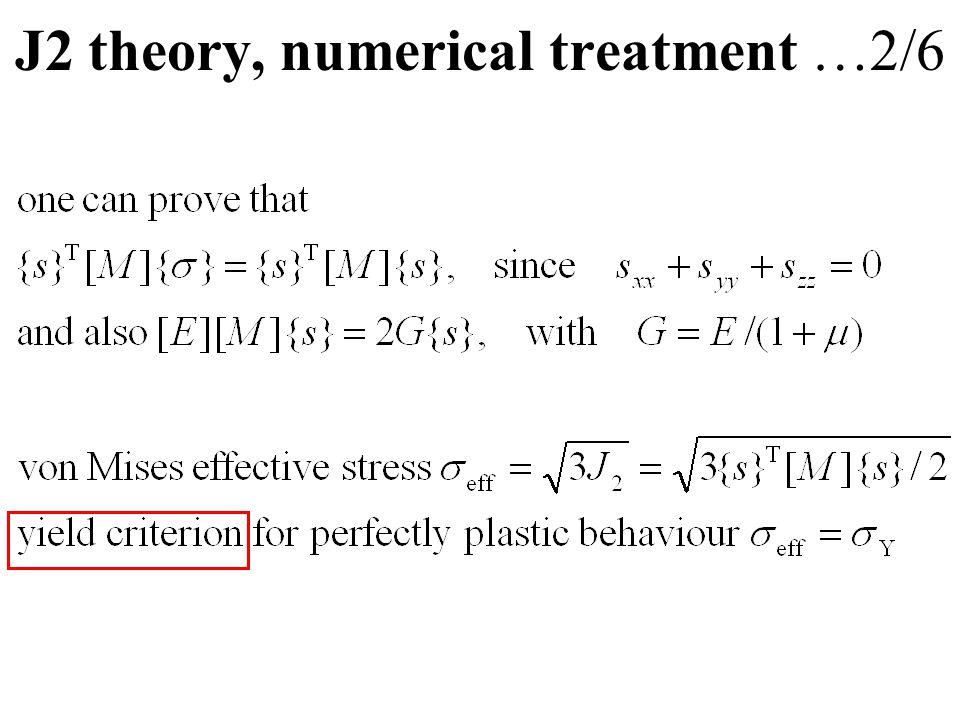 J2 theory, numerical treatment …2/6