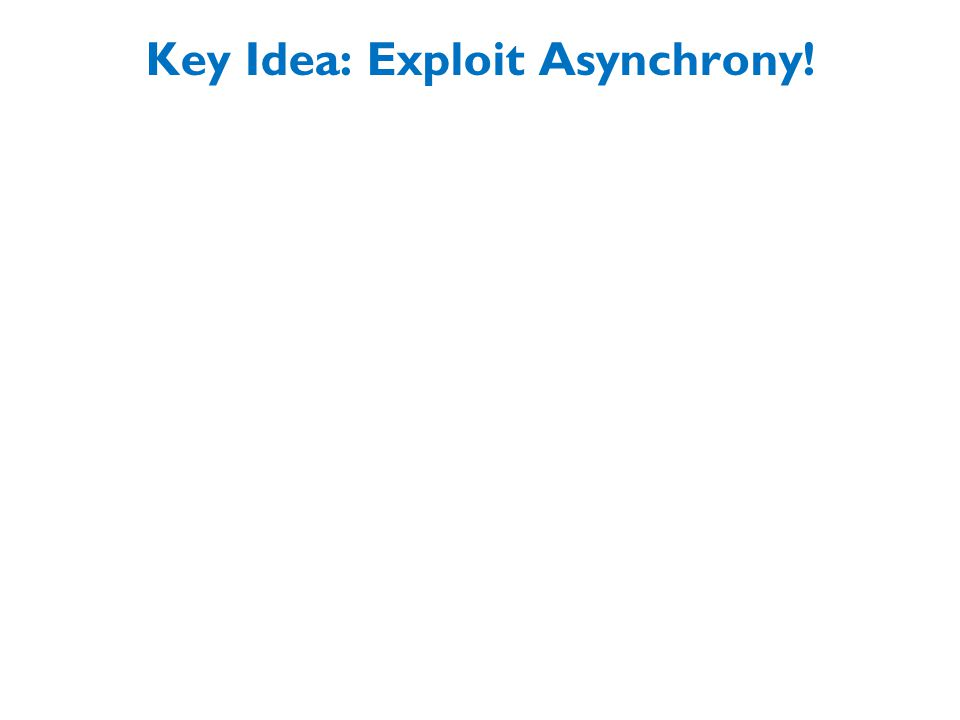 Key Idea: Exploit Asynchrony!