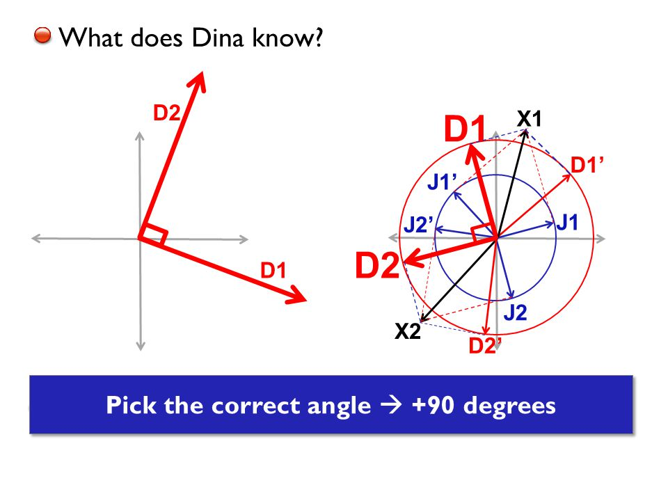 D1 D2 Dina finds solutions for X 1 and X2 What does Dina know.