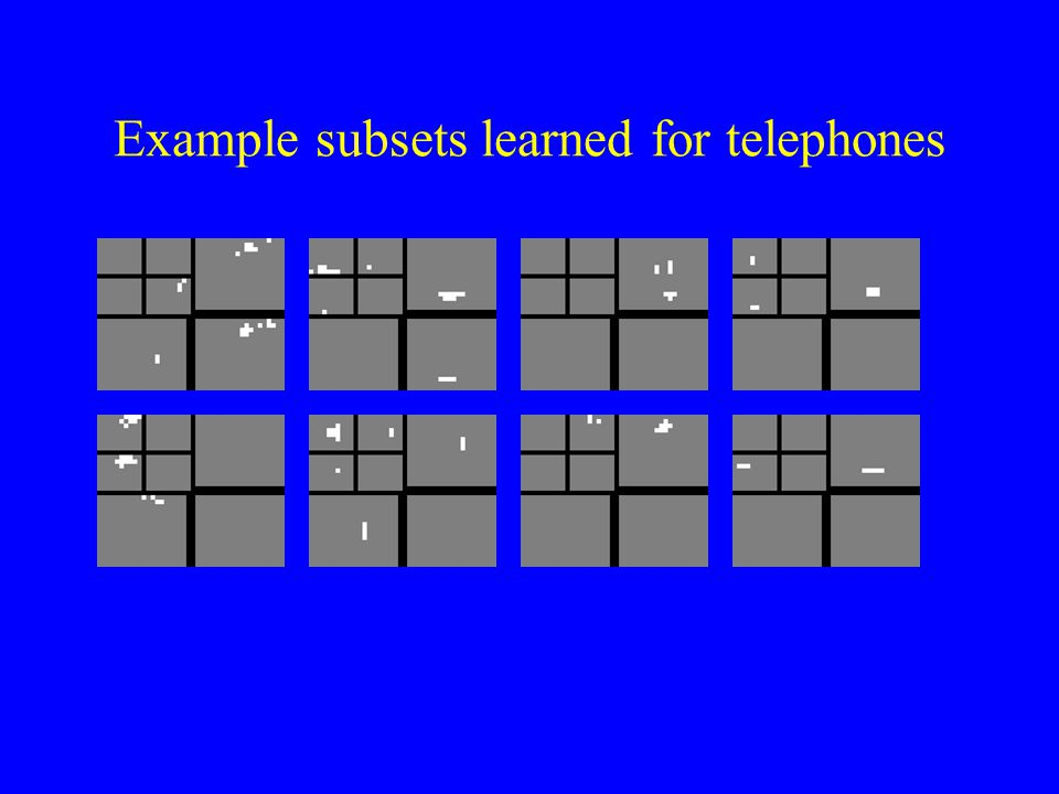 Example subsets learned for telephones