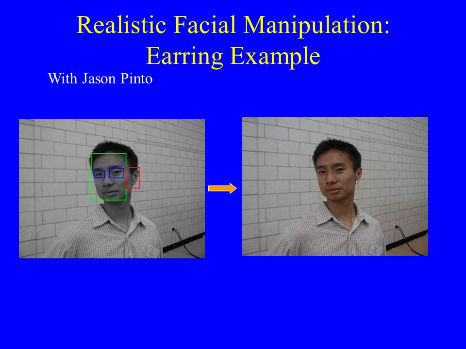 Realistic Facial Manipulation: Earring Example With Jason Pinto