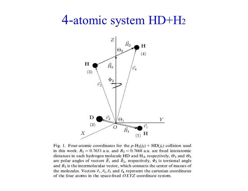 4- atomic system HD+H 2