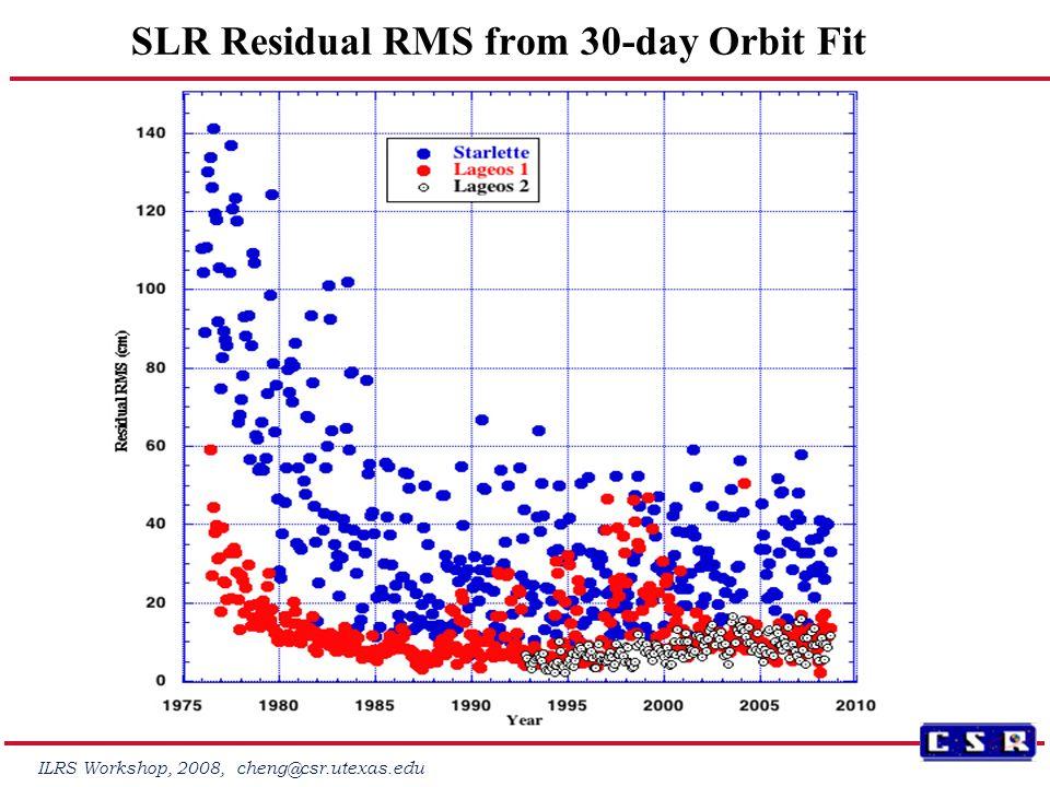 ILRS Workshop, 2008, cheng@csr.utexas.edu Monthly Solution for J2 from SLR data