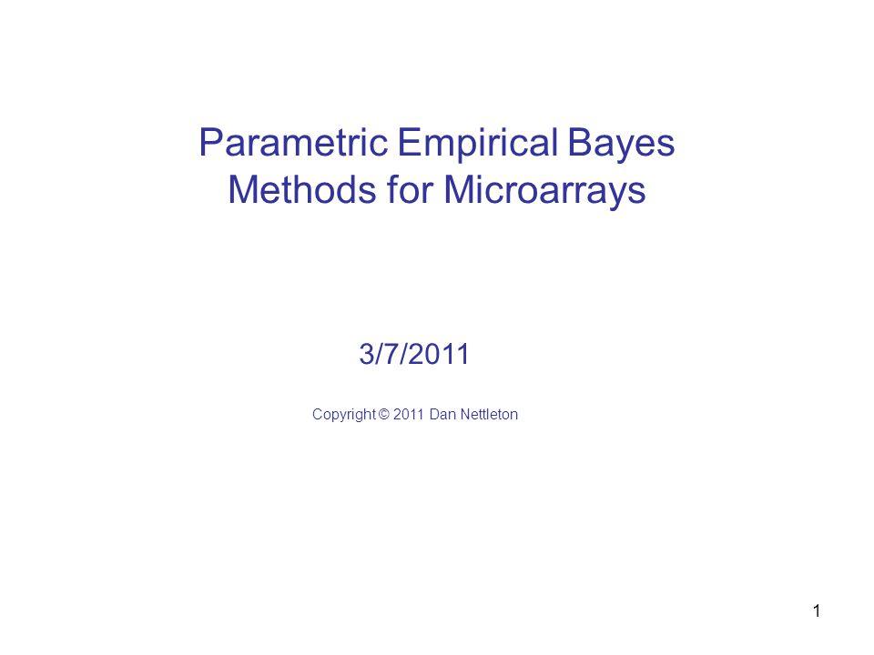 2 Parametric Empirical Bayes Methods for Microarrays Kendziorski, C.
