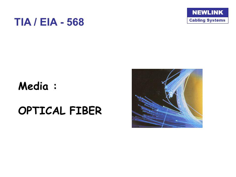 Cabling Systems NEWLINK TIA / EIA - 568 Media : OPTICAL FIBER