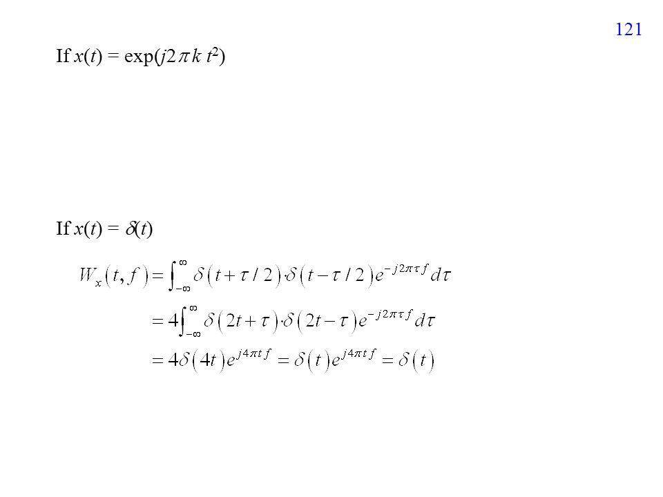 122 If h(t) =  g(t) +  s(t) cross terms V-C The WDF is not a Linear Distribution