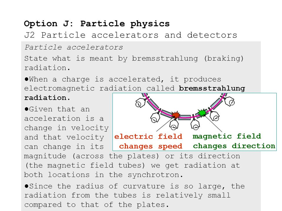 Particle accelerators Outline the structure and explain the operation of the synchrotron. ●The synchrotron's maximum energy capability is limited by i