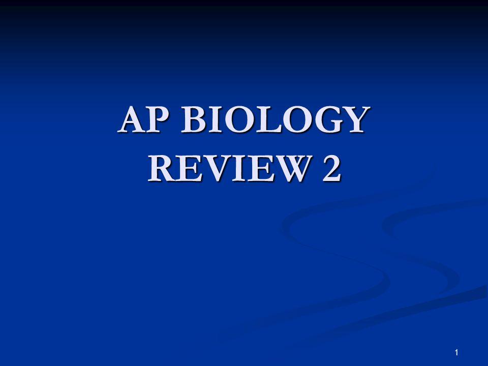 1 AP BIOLOGY REVIEW 2