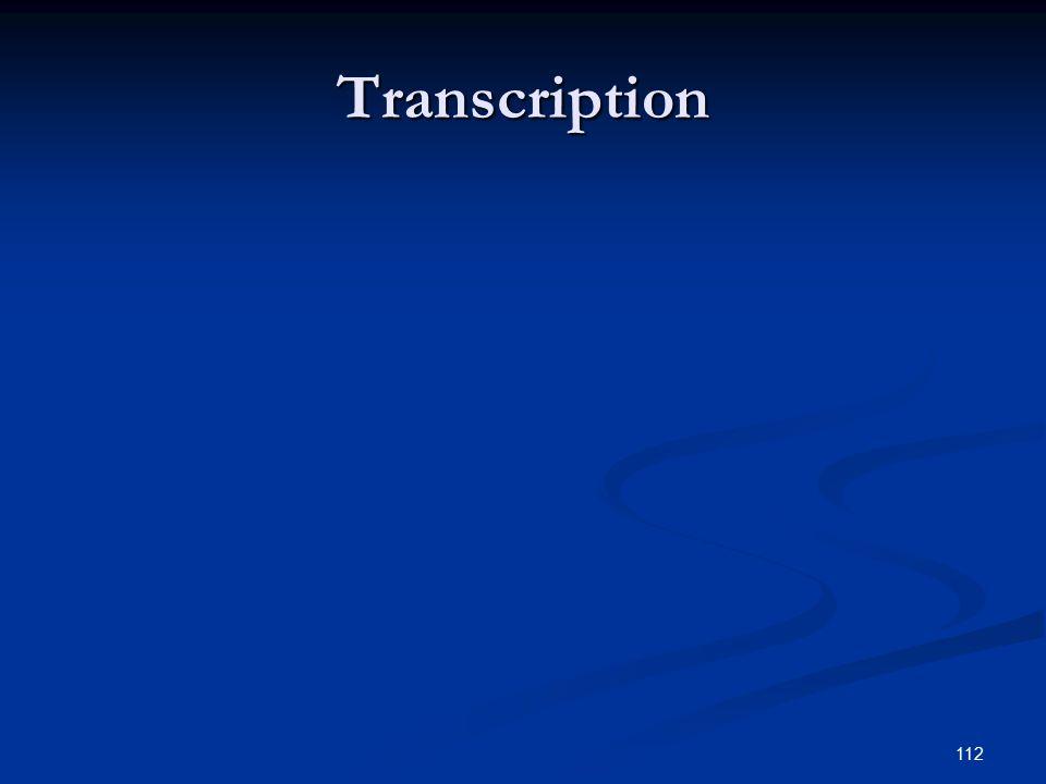 112 Transcription