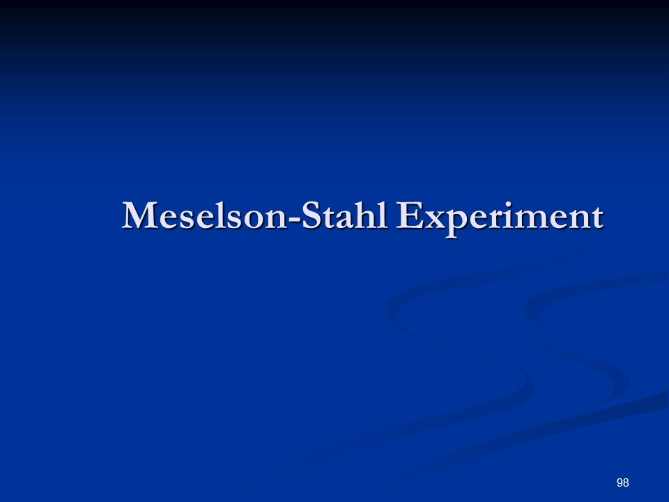 98 Meselson-Stahl Experiment