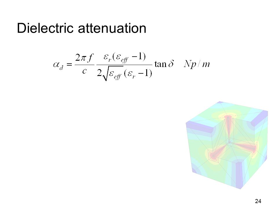 24 Dielectric attenuation