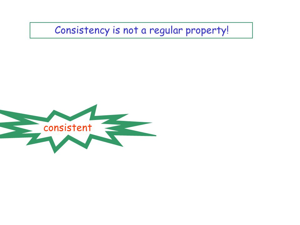 consistent Consistency is not a regular property!