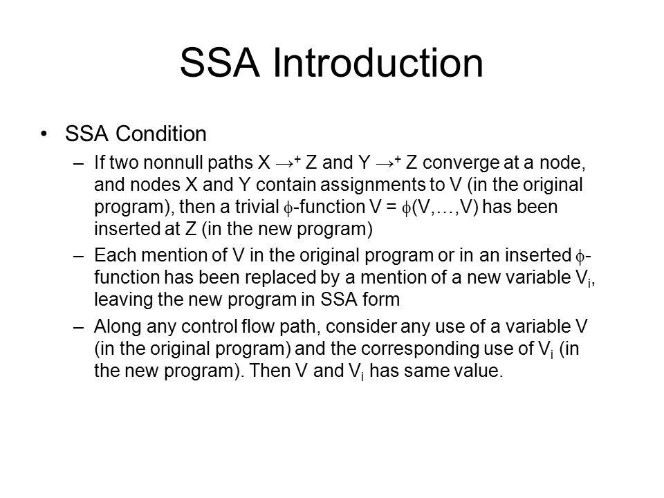SSA Example: Ultimate Dead Code Elimination k3  k2+1 return 1 j2  1 k2   (k3,0) if k2<100 B2 B5 B4 return 1 B4