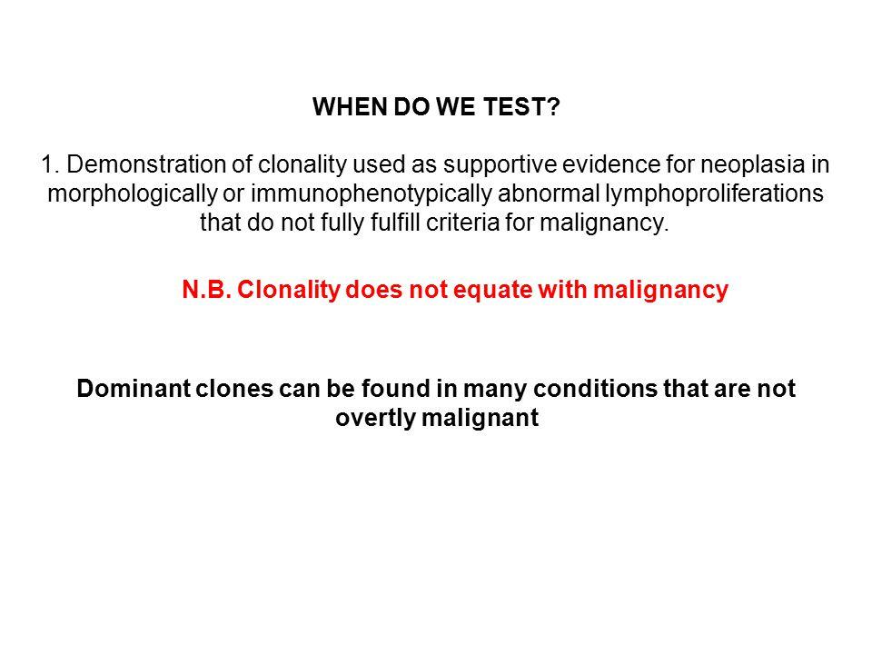 WHEN DO WE TEST. 1.