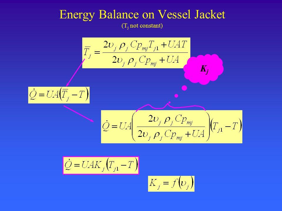 Energy Balance on Vessel Jacket (T j not constant) KjKj