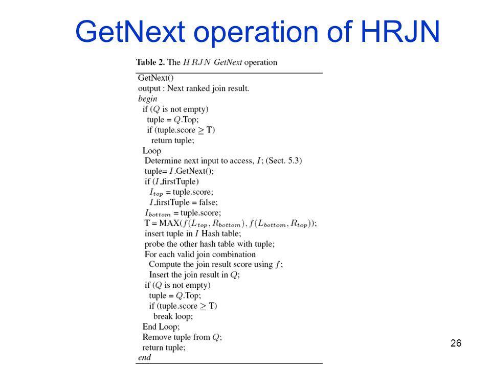 26 GetNext operation of HRJN