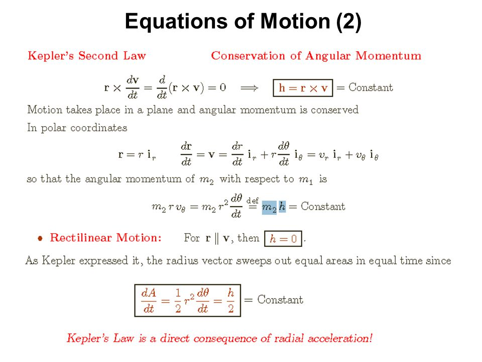 Equations of Motion (2)