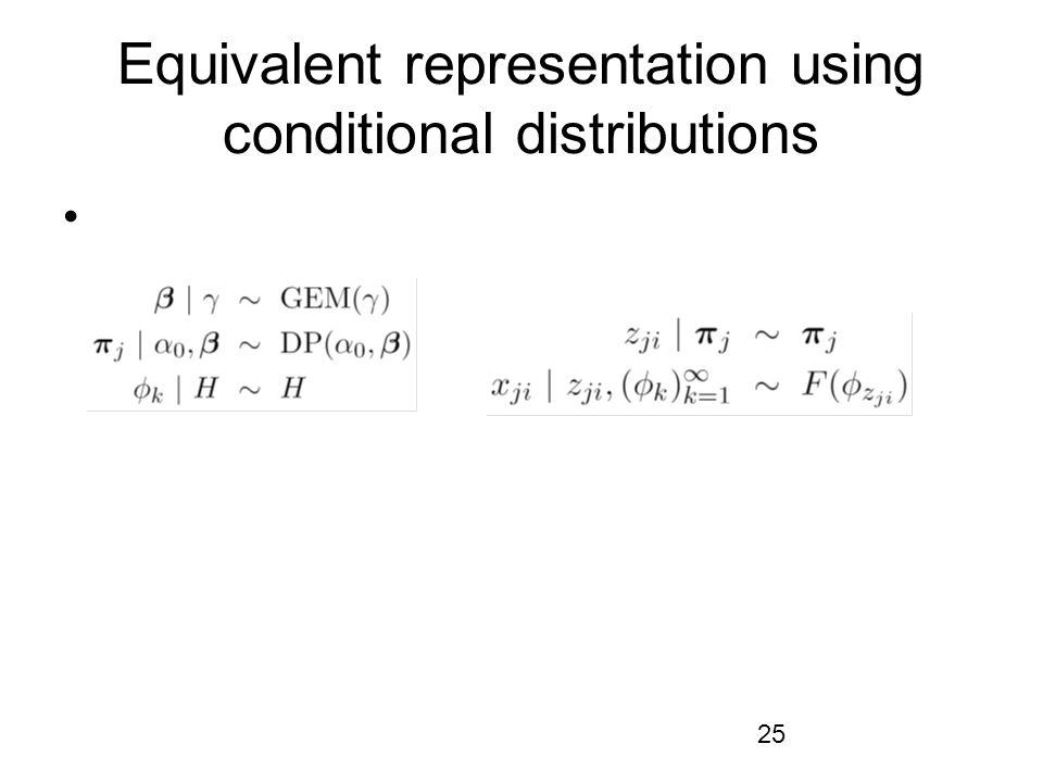 25 Equivalent representation using conditional distributions