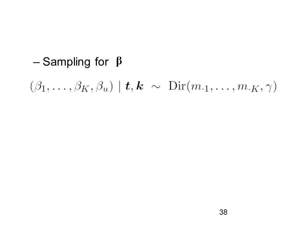 38 –Sampling for