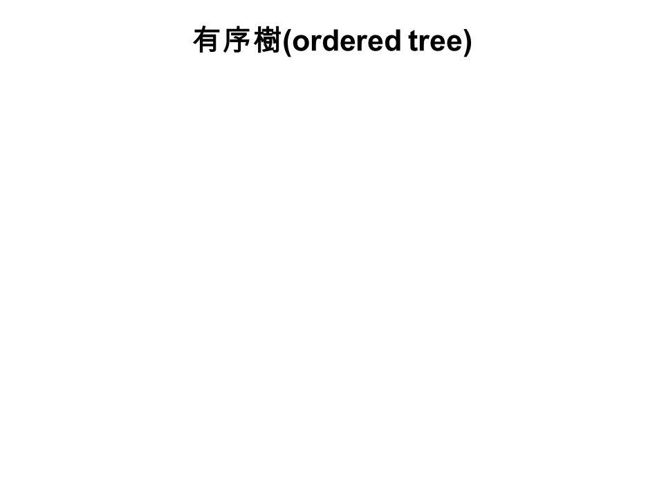 有序樹 (ordered tree)