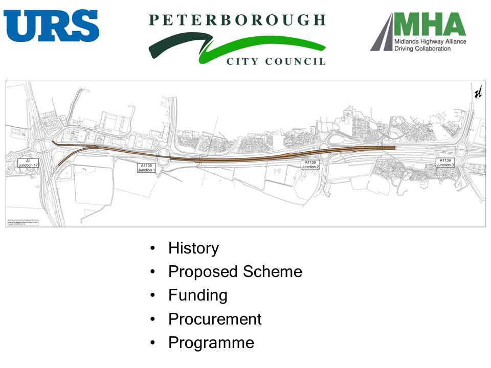 History Proposed Scheme Funding Procurement Programme