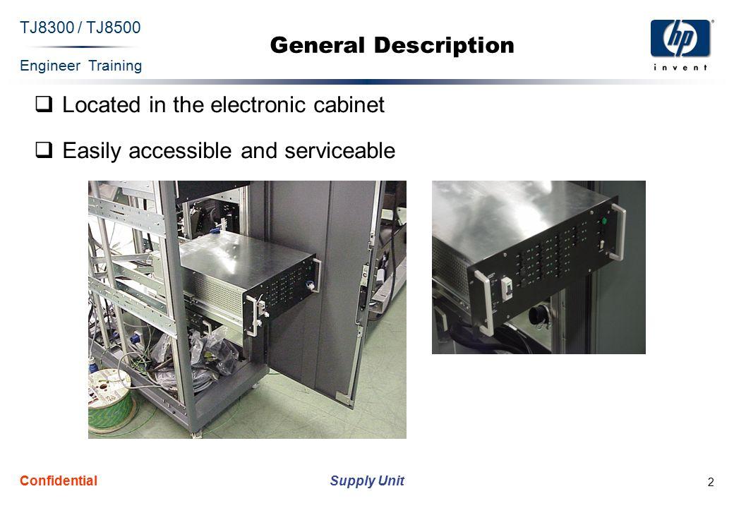 Engineer Training Supply Unit TJ8300 / TJ8500 Confidential 13 F & L List Label