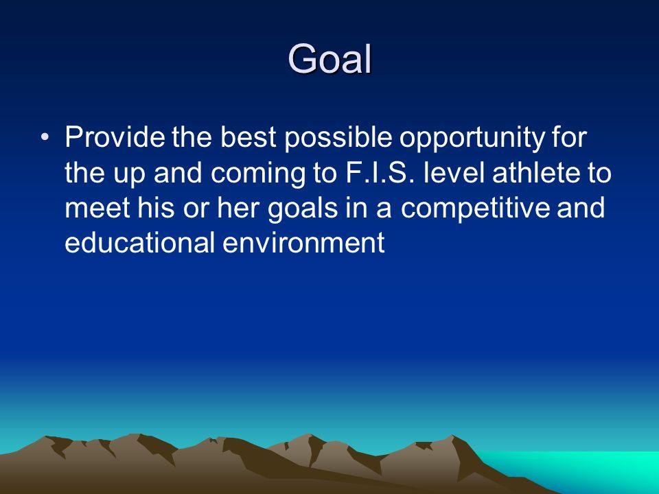 Ski Program Provide world-class training to athletes to reach their full potential US Ski team JO levels College ski teams FIS level skiing