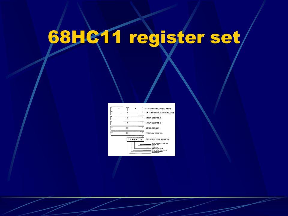 68HC11 register set