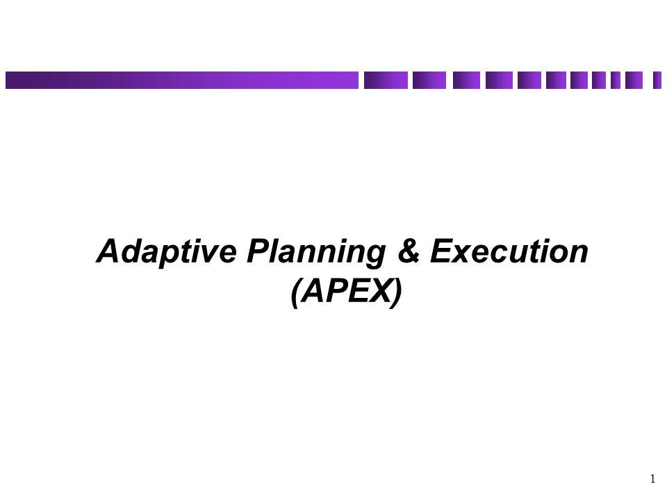 1 Adaptive Planning & Execution (APEX)
