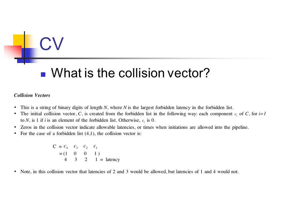 CV What is the collision vector